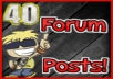 Post 40 Manual High Quality & Relevant Posts on your forum