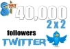 ADD 40000 REALISTIC TWITTER FOLLOWERS TO 2 ACCOUNTS
