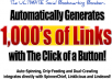 give you 4000 High PR Backlinks and 500+ Visitors