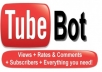 give my 4 youtube bots