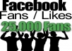 give you 25000 REAL HUMAN not fake Facebook Fan Page Likes or Profile Followers