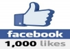 Provide 1000 Facebook likes Only