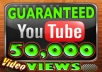 Deliver 50,000 GUARANTEED Youtube Video Views