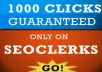 provide 1000 real human guaranteed CLICKS to your website, blog or affiliate link plz read the description before placing your order
