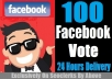 Give You 100 Facebook Vote In Any Contest Within Few Hours