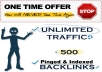 Drive UNLIMITED Traffic + Build 500+ Pinged & Indexed SEO Backlinks For Your Website