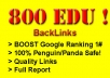 get 800 EDU backlinks