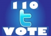 give 100 twitter vote in any contest