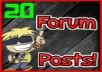 Post 20 Manual, High Quality & Relevant Forum Posts