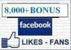 add 8000+ Real Facebook likes to your fan page without admin access
