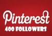 provide you 400+ PINTEREST followers [Real Human Followers]