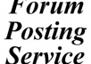 create 1 0 0 0 Forum Posting Service ,   