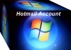 give you 500 hotmail accounts best quality