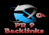 send you top quality seo friendly backlinks from 4 Unique Pr 9 and 2 pr 8 authority sites, panda penguin and zebra friendly, index for