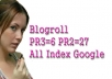 give to your blogroll start PR2x27 and PR3x6