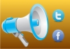 advertise your business to 10,000+ of our loyal company social network Facebook fans and Twitter followers