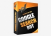 Google Search Bot v3.2.6 - Rank your site to first page of Google fully automatic. Best SEO software.