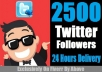 Provide You 2500 Real & Active Twitter Follower Only