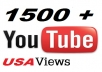 safely get you 1500++ fast and real USA YouTube views with high retention on your video in 24 hours 