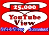 add 25,000++ youtube views to your video GUARANTEED