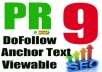 create 40 high PR9 to PR0 web 20 and juice them all with 600+ PR8 to PR0 Dofollow and Nofollow mixed social bookmarking