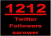 Get you 1212+ Twitter Followers, 100% real & Genuine only