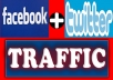 promote you site or product to12,000,000+(12 million) Twitter Follower and 12,000,000+ Facebook Members With proof