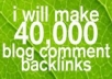 make 40,000 blog comment backlinks!!!@@@