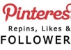 add 200+ Pinterest Followers without admin access within 72 hours