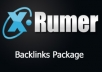 create Do Follow, Visible, Xrumer Backlinks 200 000, 500 000, 1 Million, 1,5 Million, 2 Million All Visible For Search Engines