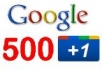 Give you 500 Google Plus 1 VOTE/LIKE