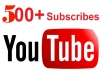 send you 500++ Guanrated subscribers[Fast] to your YouTube channel order now