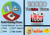 deliver 20000 high retention youtube views to your video SUPER fast