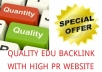 Give 20+ High Quality EDU Backlink With PR 10 to 4