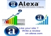 give You 30 ★★★★★ Star Organic Alexa Reviews About Your Website By Different People
