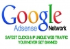 give you 20 unique REAL google adsense safe click's from USA