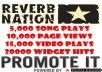 Add ⇨5,000 ReverbNation Song Plays + 15,000 Video Plays + 10,000 Page Views + 20000 Widget Impressions ► For Your Reverb Account⇨No Admin Access Required ►Fast Delivery⇨