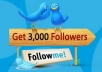 provide 3000+ Twitter Real-Looking Followers