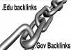 create EDU GOV 200 Edu Backlinks 10 Dofollow PR5 to PR6 of ACTUAL PAGE EDU GOV Backlinks using redirects to your website