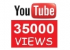 deliver 35,000 Permanent YouTube Views to Your Video