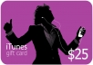 give you a $25 iTunes giftcard (only 5 available) for