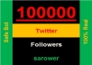 Get you 100000+ Twitter Followers, 100% real & Genuine only