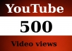 give any youtube video 500 REAL Human Views