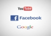 To offer a package of (250Google Plus+200 Youtube like+150 Facebook like)all within 24 hours 