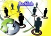 build 1500 backlinks for your website to increase its visibility in google and other major search engine for