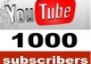 add 1,000 Youtube Subscribers to your youtube channel without admin access