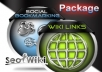 ☛ ★-- create 3000 wiki links + 30 web 2,0 High PR blog backlinks with spun content/Perfect diversity --★  ☚