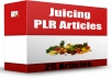 provde 25 Juicing PLR Articles