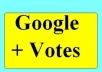 give 51 genuine google + votes to increase your seo ranking with in 24 hours from australian profile