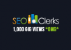 give your SEOClerks gig 1,000 views (one thousand)